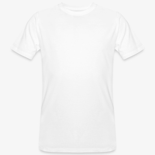thiccc text logo WHITE - Men's Organic T-Shirt