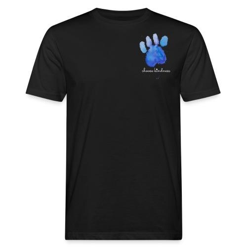 Tierfreund Choose Kindness Hundepfote Wasserfarben - Männer Bio-T-Shirt