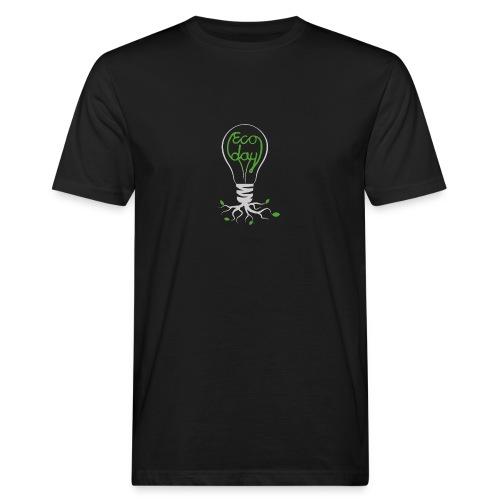 Logotyp Ecoday genomskinlig för mörk bakgrund png - Ekologisk T-shirt herr