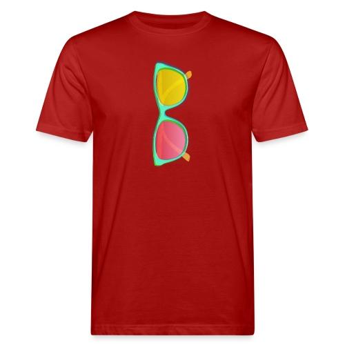 Vintage Retro Glasses Pop Art Style - Men's Organic T-Shirt