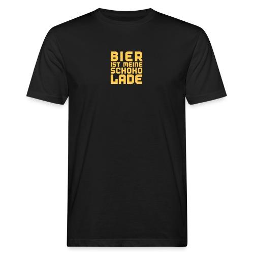 Bier ist meine Schokolade - Männer Bio-T-Shirt