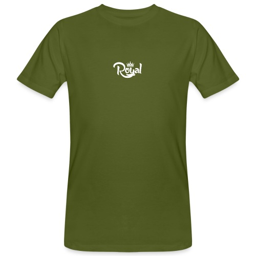 Royal Logo White Edition - Men's Organic T-Shirt