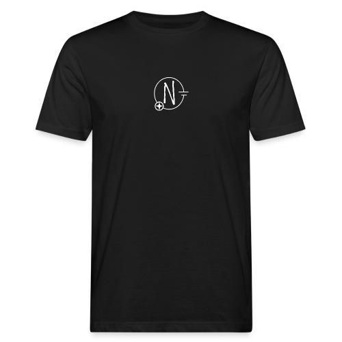 Nerdpol Logo White - Männer Bio-T-Shirt
