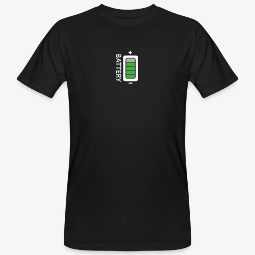 Battery - T-shirt ecologica da uomo