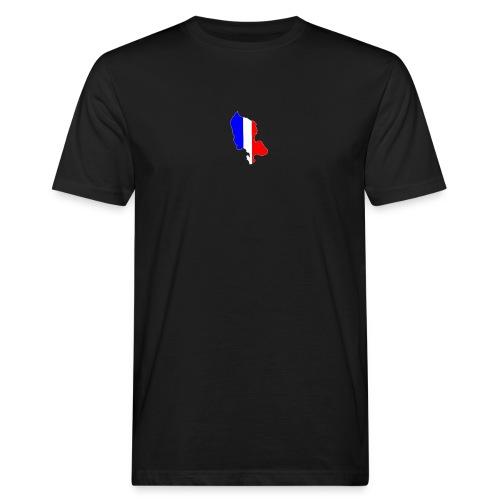 Carte Territoire de Belfort bleu blanc rouge - T-shirt bio Homme