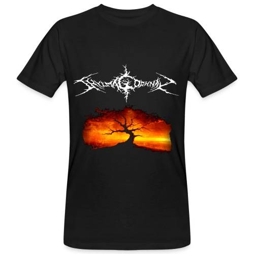 Silhouette of tree with logo white png - Men's Organic T-Shirt