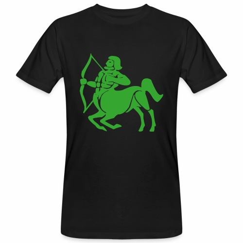 Das Sternzeichen Schütze trifft immer sein Ziel - Männer Bio-T-Shirt