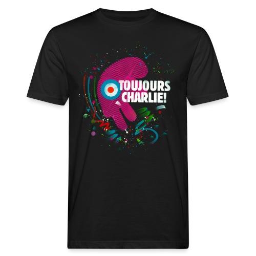 Toujours Charlie interprété par l'artiste C215 - T-shirt bio Homme