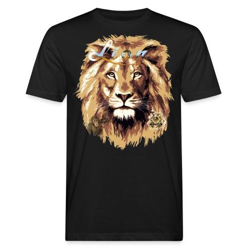 lion big scale 4x Gemälde3 - Männer Bio-T-Shirt