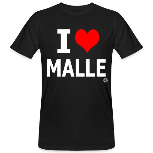 I LOVE MALLE SHIRT Damen Herren Frauen Männer - Mannen Bio-T-shirt
