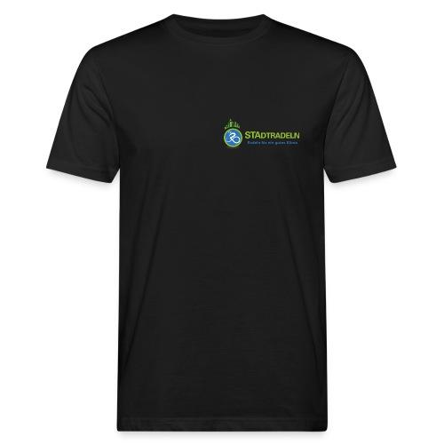 STAdtradeln Logo lang Pixel - Männer Bio-T-Shirt