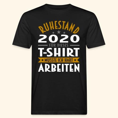 Ruhestand 2020 - Männer Bio-T-Shirt