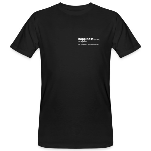 Happiness - Shirt (100% bio und fairtrade) - Männer Bio-T-Shirt