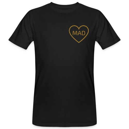 Logo MAD Corazon Oro - Camiseta ecológica hombre