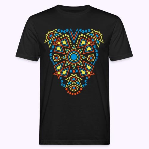 Tribal Sun Front - Mannen Bio-T-shirt