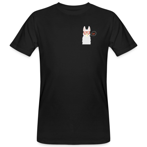 Llama with red glasses (white) - Organic mænd