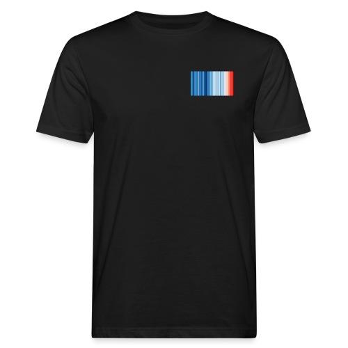 Klimawandel - Warming Stripes - Wärmestreifen - Männer Bio-T-Shirt