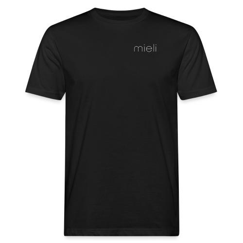 mieli logo white - Männer Bio-T-Shirt