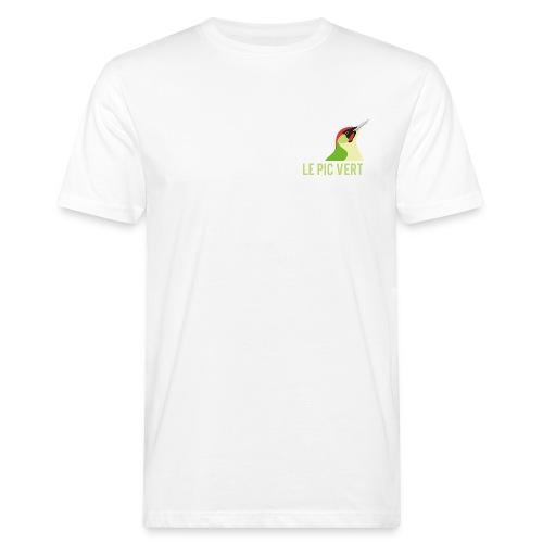 logo pic vert 01 png - T-shirt bio Homme