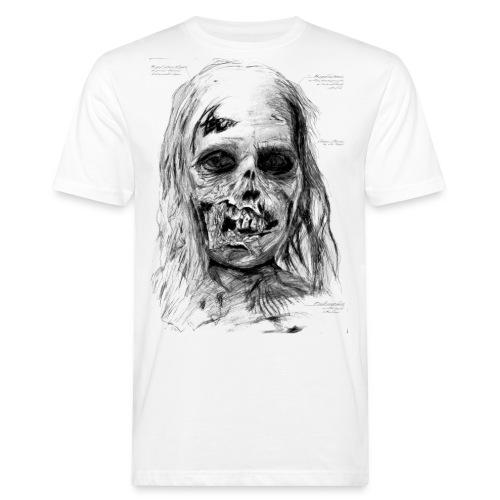 Zombie Kopf - Männer Bio-T-Shirt