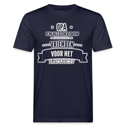 Opa en kleinzoon vrienden voor het leven vaderdag - Mannen Bio-T-shirt