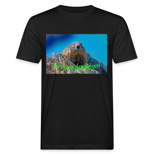Servus in den Bergen - Männer Bio-T-Shirt