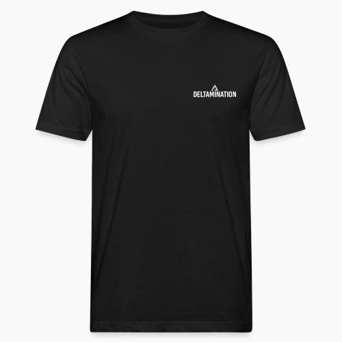 Deltamination Logo Weiß - Männer Bio-T-Shirt