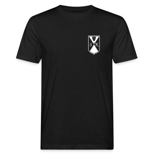 Logo Weiss groß - Männer Bio-T-Shirt