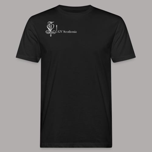 Zirkel mit Name, weiss (vorne) - Männer Bio-T-Shirt