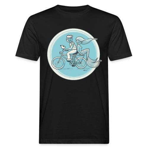 To the Beach - Backround - Männer Bio-T-Shirt