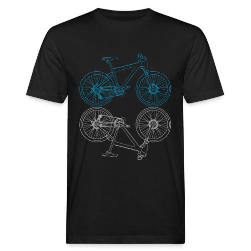 Mountainbike Fahrrad Radsport Skizze - Männer Bio-T-Shirt