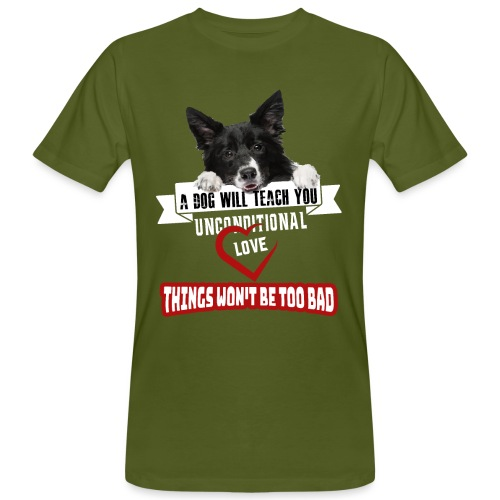 Border Colli Bedingungslose Liebe - Männer Bio-T-Shirt