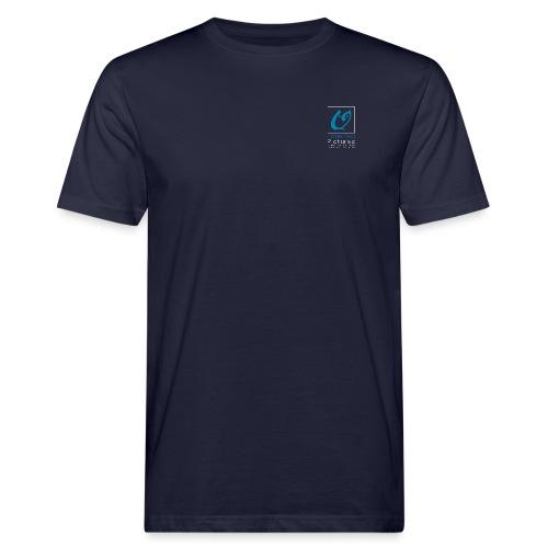 Little Owl Pictures Logo (weiß/blau) - Männer Bio-T-Shirt