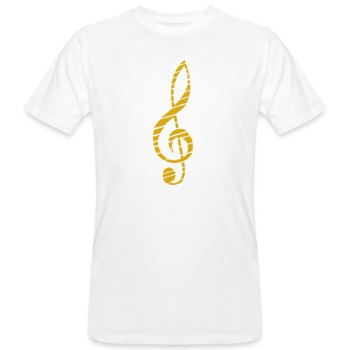 Goldenes Musik Schlüssel Symbol Chopped Up - Men's Organic T-Shirt