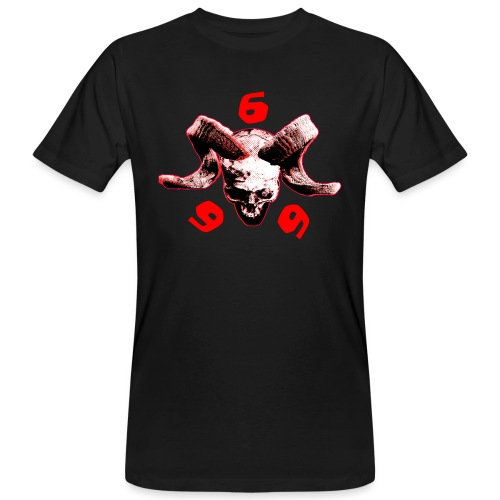 skull 666 - Männer Bio-T-Shirt