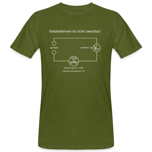 Vokabellernen ist nicht zwecklos - Men's Organic T-Shirt