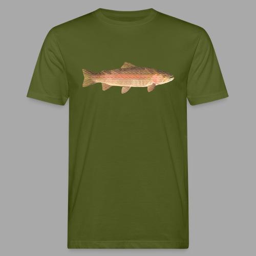 low-polygon-trout art.png - Miesten luonnonmukainen t-paita