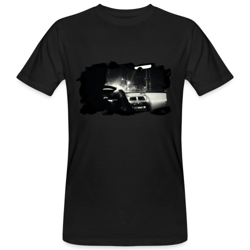 PS-001 Driving at Night (Wht PS logo on back) - Organic mænd