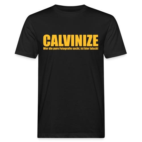 Calvinize_Pure_fotografie - Männer Bio-T-Shirt