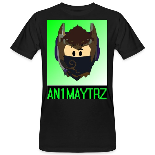 AN1MAYTRZ logo + title - Men's Organic T-Shirt