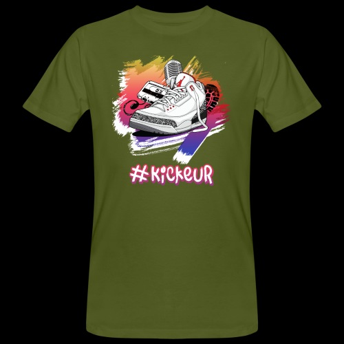 #Kickeur Blanc - T-shirt bio Homme