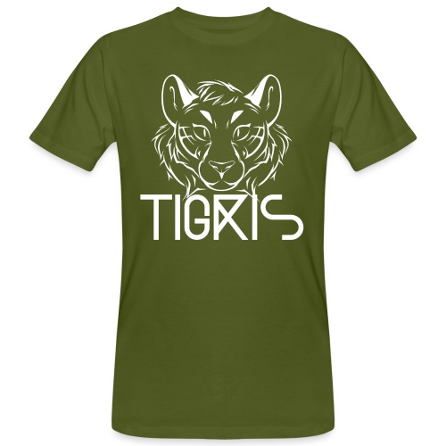 Tigris Logo Picture Text White - Men's Organic T-Shirt