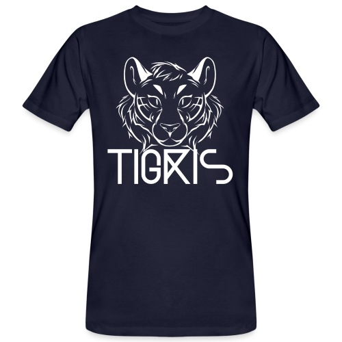 Tigris Logo Picture Text White - Men's Organic T-Shirt