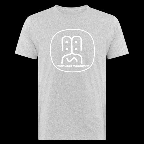 MaickyTv Logo Weiß - Männer Bio-T-Shirt