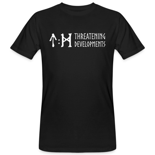 Threatening Developments White Logo - Men's Organic T-Shirt