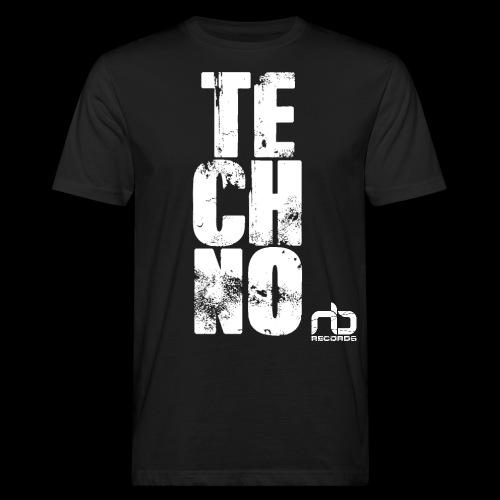 nb reclogo dropout white gif - Men's Organic T-Shirt