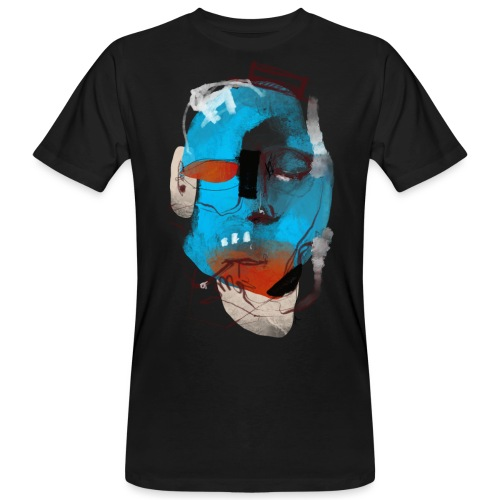 Blu Face - T-shirt ecologica da uomo
