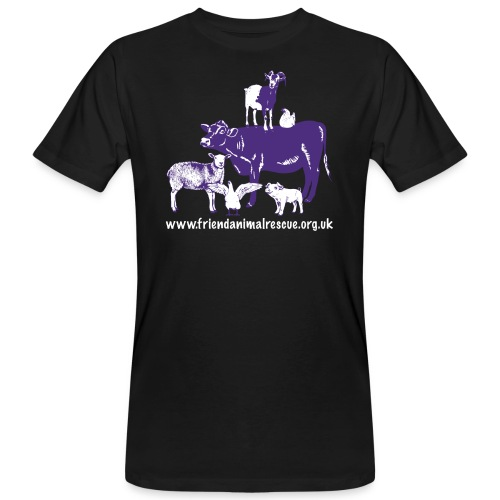 FRIEND animals url purple - Men's Organic T-Shirt