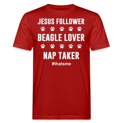 Jesus follower Beagle lover nap taker - Men's Organic T-Shirt