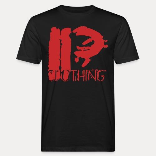 IRON PSYCHO LOGO ORIGINAL-RED - Men's Organic T-Shirt